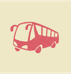 Bus icon in grunge style vector