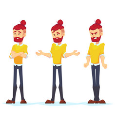 business man characters adult hipster in casual vector image