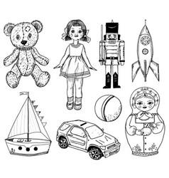 Children toy for children doll tin soldier vector