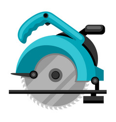 Circular saw on white background vector