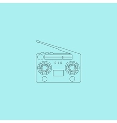 Classic 80s boombox vector