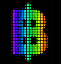 colored dotted baht icon vector image