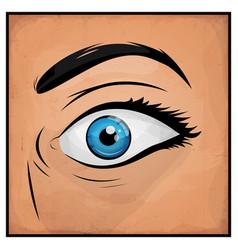 comic books woman eyes vector image