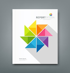 Cover Annual report colorful windmill paper vector image