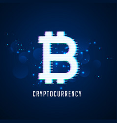 cryptocurrency digital bitcoins symbol technology vector image
