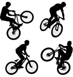 cyclist vector image