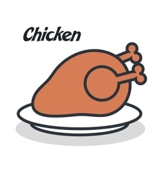 Delicious chicken isolated i vector