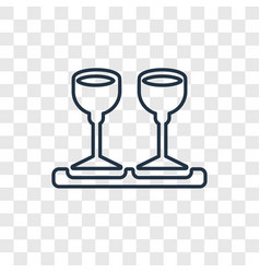 drinks concept linear icon isolated on vector image