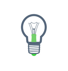 electric bulb of rounded shape isolated vector image
