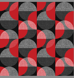 elegant textured geometry shapes seamless pattern vector image