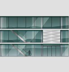Facade of a modern shopping center vector