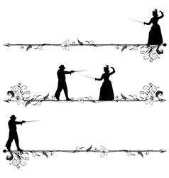 fencing people vector image