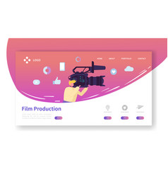film production landing page tv video industry vector image