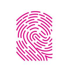 Fingerprint scan biometric concept icon vector