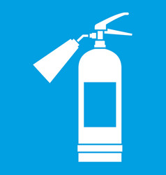 Fire extinguisher icon white vector
