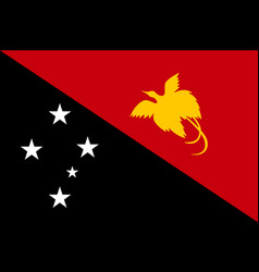 Flag papua new guinea flat style vector