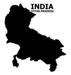 Flat map uttar pradesh state with vector