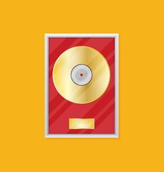 flat vinyl disk icon vector image