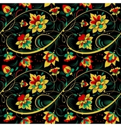 Floral seamless pattern in russian tradition style vector