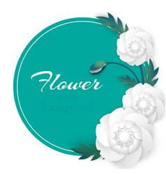 Flower background with circle and white vector
