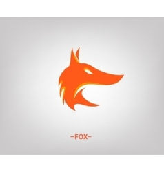 fox head in profile vector image