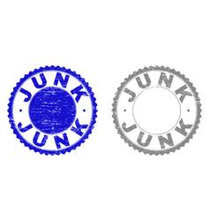 Grunge junk scratched stamps vector