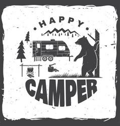 happy camper concept vector image