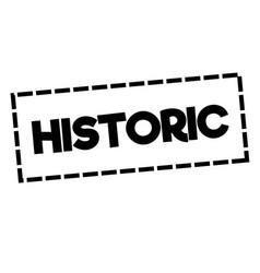 Historic stamp on white vector