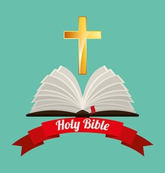 holy bible design vector image