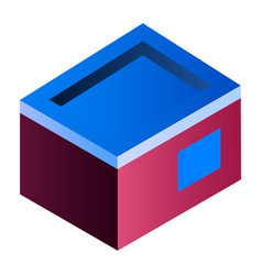 home building icon isometric style vector image