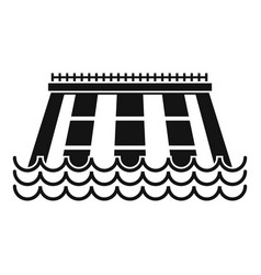Hydroelectric power station icon simple style vector