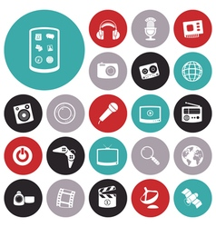 Icons for technology entertainment vector