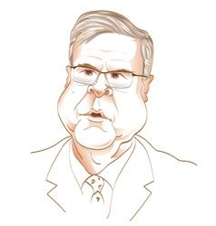 Jeb Bush 2016 Replican Presidential candiate vector image