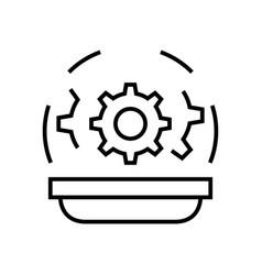 Law characteristics line icon concept sign vector
