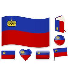 Liechtenstein national flag in vector