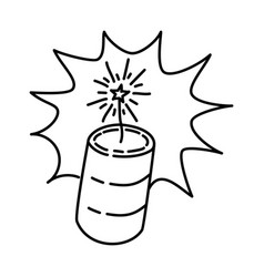 loud explosion icon doodle hand drawn or outline vector image