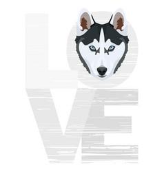 Love husky vector