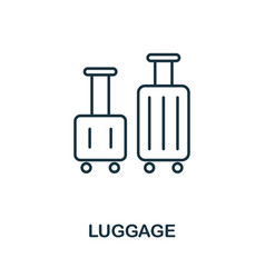 luggage outline icon thin line concept element vector image