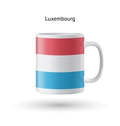 Luxembourg flag souvenir mug on white background vector image