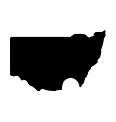 Map canberra isolated black vector
