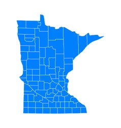 Map of Minnesota vector