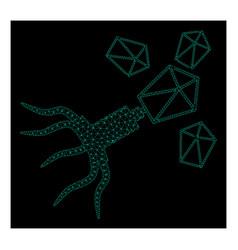 Mesh virus replication in polygonal wire frame vector