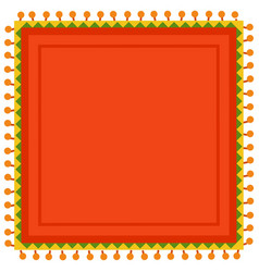 Mexican-style bright red square tablecloth vector