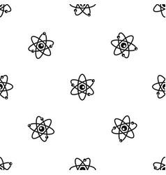 molecules of atom pattern seamless black vector image