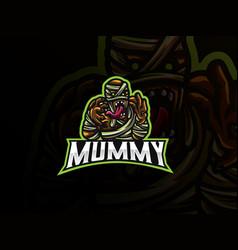 mummy sport logo design vector image
