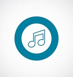 Music icon bold blue circle border vector