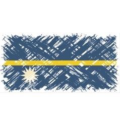 Nauru grunge flag vector image vector image