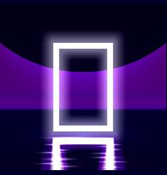 neon show light podium vector image