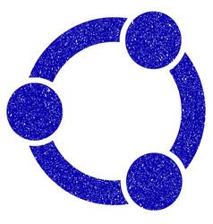 Network relations icon grunge watermark vector