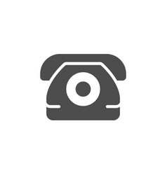 phone or telephone icon and contact symbo vector image
